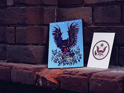 Herbariy / United States illustration ivan belikov further up graphic herbariy usa united states amerika eagle