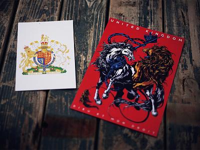 Herbariy / United Kingdom unicorn coat of arms herbariy uk united kingdom lion graphic further up illustration ivan belikov