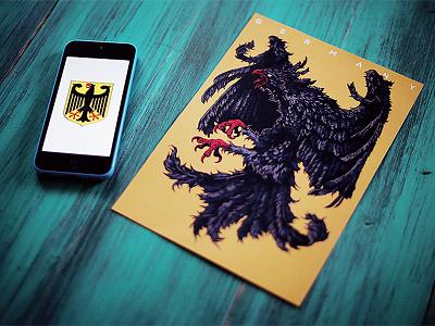 Herbariy / Germany ivan belikov further up herbariy illustration poster germany print coat of arms feathers eagle