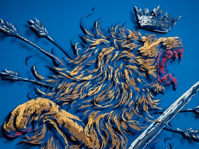 I Will Maintain / Craft Project ivan belikov further up illustration graphic craft piko netherlands paper lion herbariy coat of arms