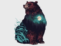 Brown Taiga Bear