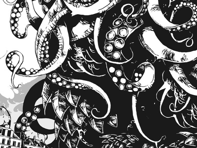 Great Old One wacom photoshop graphic art graphic octopus cthulhu illustration further up ivan belikov