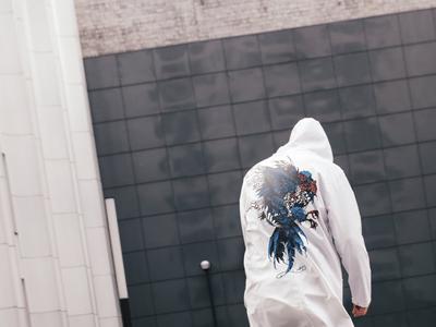 'Sirin / Bird of Sorrow' Raincoat