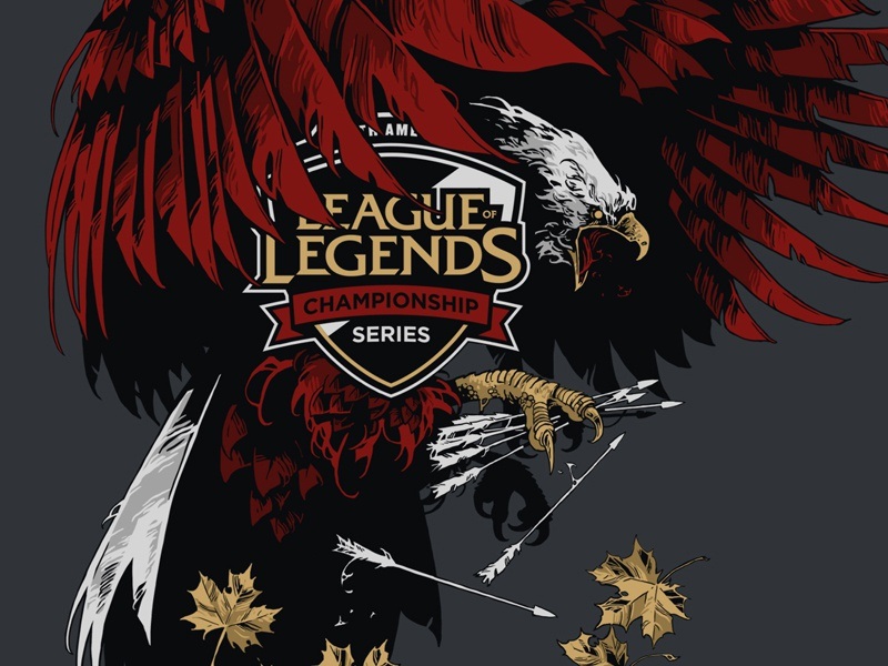 League of Legends / MSI 2018 / NA LCS nalcs eagle ivan belikov further up illustration coat of arms league of legends lol msi2018 crests