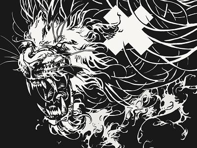 xxx graphic procreate coat of arms lionheads xxx amsterdam lions illustration further up ivan belikov