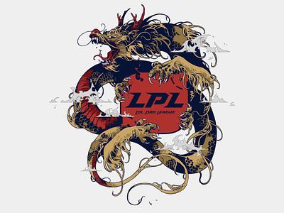 LPL / League of Legends MSI 2018 Crests creature digital art drawing wacom photoshop msi2018 league of legends lpl dragon coatofarms graphic further up ivan belikov illustration