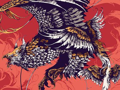 Fantastic Beasts / Thunderbird beast bestiary creature ipad pro procreate fantastic beasts bird feathers graphic illustration ivan belikov