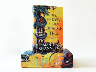 The Priory of the Orange Tree book cover book the prioary of the orange tree bloomsbury art dragon graphic further up ivan belikov illustration