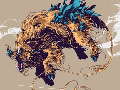 MMXIX ipad pro procreate beast creature fur pig boar 2019 mmxix art drawing graphic further up illustration ivan belikov