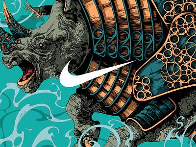 Nike Beijing 99 / Rhinoceros fragment art beast creature beijing99 procreate rhinoceros nike drawing graphic further up illustration ivan belikov