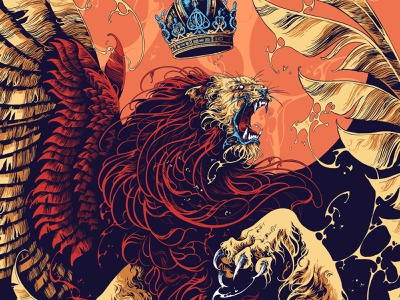 Impericon Festivals 2020 impericonfestival ipadproart procreate art creature lion drawing feathers graphic further up ivan belikov illustration