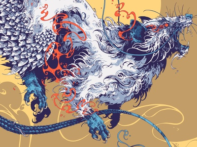 MMXX procreate digital art 2020 mmxx rat creature beast drawing graphic further up ivan belikov illustration
