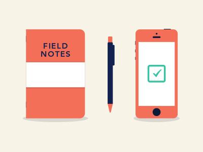 GTD Buckets gtd bucket field notes pen iphone things