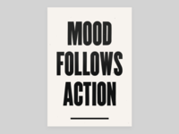 Mood Follows Action