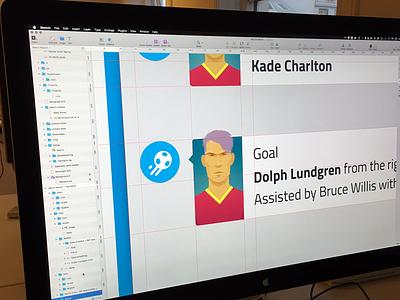 Goodbye Kickoff CM illustrations character guides process sketch game football soccer cm kickoff