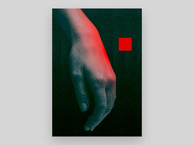 Melankoli light red photography art poster