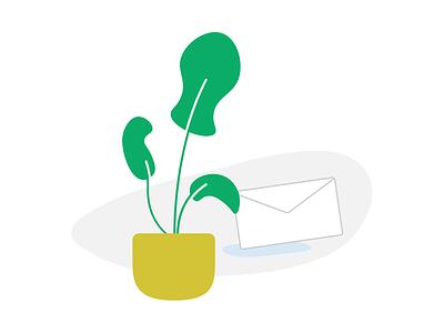 Plant Email app illustration mail plant vegan