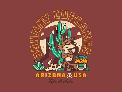 Take A Hike. character design nature hiking cactus coyote branding graphic design desert arizona type typography corey reifinger johnny cupcakes illustrator illustration