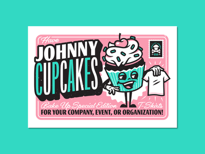 Greetings. corey reifinger print lettering promo flyer branding graphic design type typography illustration johnny cupcakes
