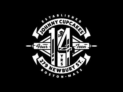 14. corey reifinger branding graphic design typography type vector illustration johnny cupcakes badge design crest badge logo design