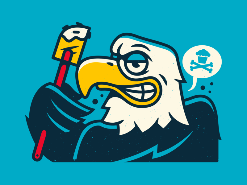 Bald. corey reifinger vector usa bald eagle johnny cupcakes illustration
