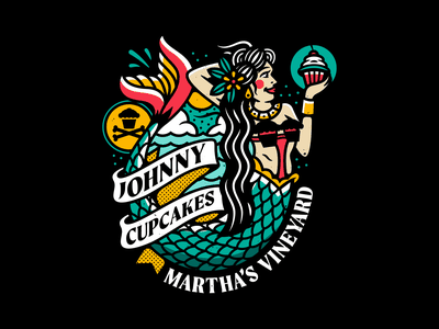 Mermaid. type nautical marthas vineyard tattoo design tattoo mermaid corey reifinger johnny cupcakes illustration