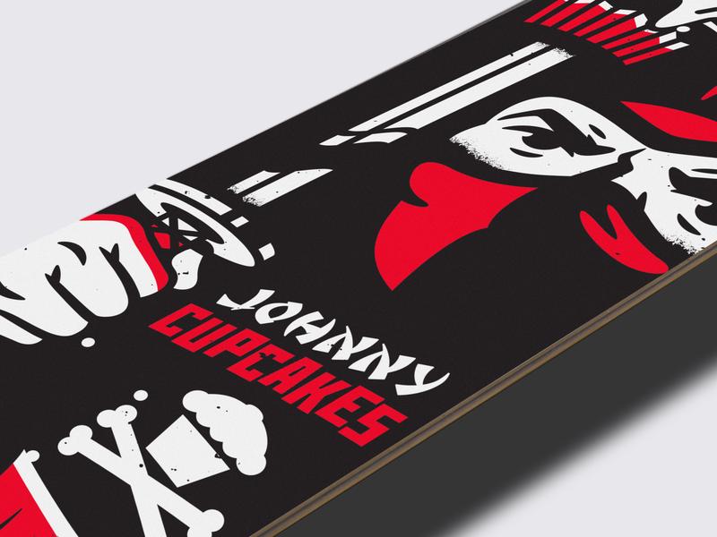 Skate Deck. typography branding vector graphic design shaolin ninja skate deck skateboard corey reifinger johnny cupcakes illustration