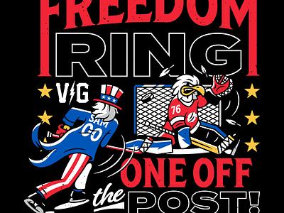 Uncle Sam. graphic design corey reifinger usa uncle sam branding hockey violent gentlemen vector type typography illustration