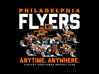 Flyers. branding vector graphic design corey reifinger sports logo gritty philadelphia flyers philly violent gentlemen hockey typography type illustration
