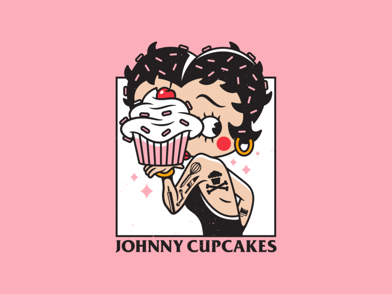 Betty. tattoo pin up girl betty boop vector corey reifinger branding johnny cupcakes illustration