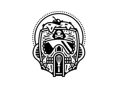 Troopers. branding corey reifinger tattoo sugar skulls storm troopers star wars vector johnny cupcakes illustration