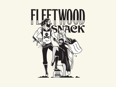 Fleetwood Snack. typography vinyl album art music fleetwood mac corey reifinger branding design vector type logo johnny cupcakes illustration