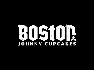 Boston. branding boston headline blackletter custom type lettering typography type logo johnny cupcakes corey reifinger illustration