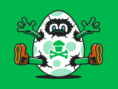 Hatch. egg corey reifinger vector johnny cupcakes video games illustration nintendo yoshi