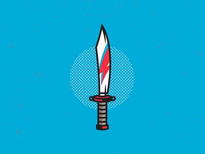 Bowie Knife. corey reifinger icon ziggy stardust david bowie illustration