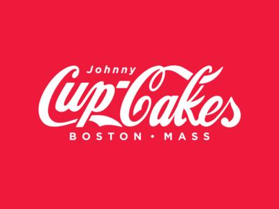 Cola. corey reifinger logo boston johnny cupcakes soda parody typography type
