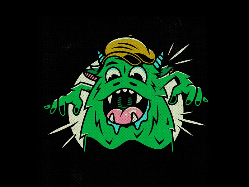 Green Monster. corey reifinger poster design typography comic book comic con illustration green monster johnny cupcakes boston