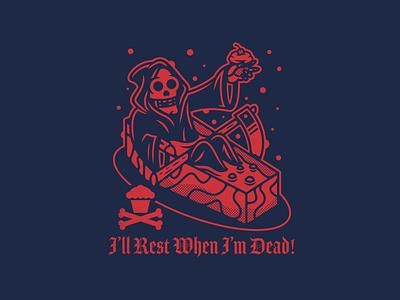 Reaper. corey reifinger designer con johnny cupcakes grim reaper death skull illustration