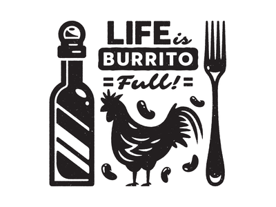 Numero Dos. hot sauce corey reifinger booze illustration icons burrito margarita food mexican