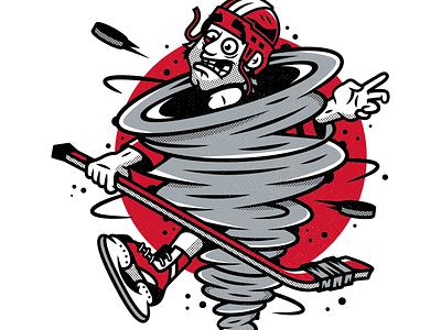 Hurricanes. corey reifinger type illustration fight sports skate ice carolina hurricanes nhl hockey player