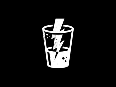 Beer Me. corey reifinger illustration vector booze lightning bolt pint glass icon logo beer