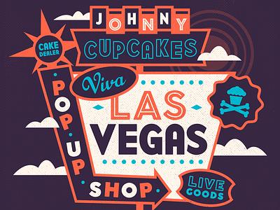 Viva Las Vegas. nevada type neon design app illustratioin design promo johnny cupcakes vegas las vegas
