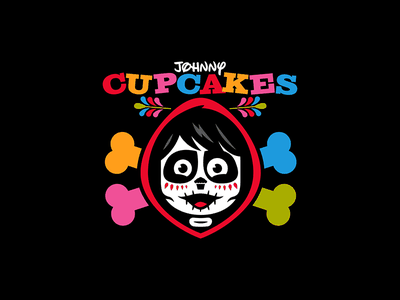 CoCo. corey reifinger sugar skull day of the dead coco skull and crossbones halloween skull johnny cupcakes illustration