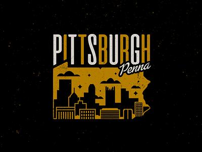 Pitt 3. cityscape skyline illustration pennsylvania pittsburgh city lettering logo design typography type