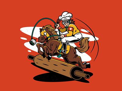 Jockey. typography layout graphic design flyer promo johnny cupcakes race jockey horse character design mascot illustration