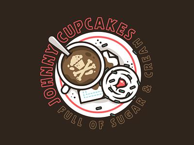 Sugar & Cream. type logo design branding badge vector illustration typography corey reifinger johnny cupcakes