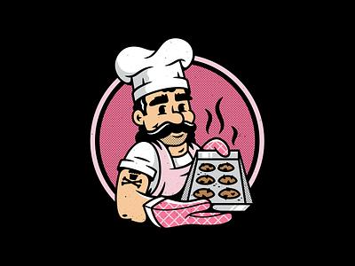 Crumbs. characterdesign mascot oven bakery baker chef branding graphic design logo vector corey reifinger johnny cupcakes illustration