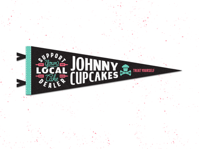 Pennant. branding lettering oxford pennant badge corey reifinger graphic design typography type logo johnny cupcakes