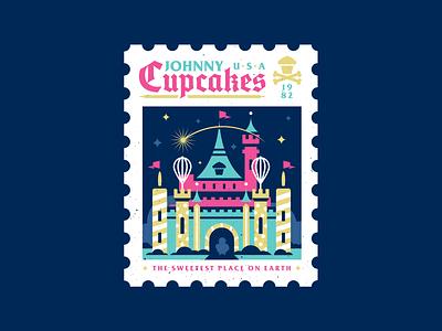 Castle. castle disney disneyland design badge graphic design logo vector typography corey reifinger johnny cupcakes illustration