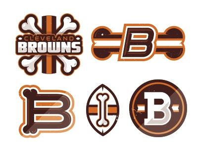 Dawg Pound. nfl cleveland browns logo illustratioin icon football corey reifinger